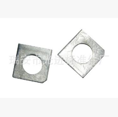 垫圈厂生产销售坚固件方斜垫圈 垫圈 GB852工字钢用方斜垫圈