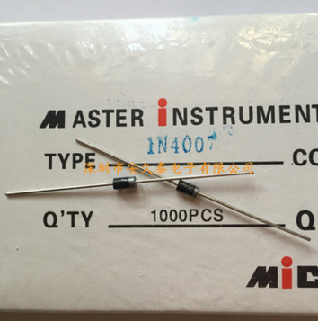 直插整流二极管 IN4007 1N4007 1A 1000V DO41 全新原装