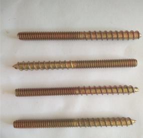 供应单尖双牙丝供应 镀彩双尖全扣丝 家具螺丝规格M10