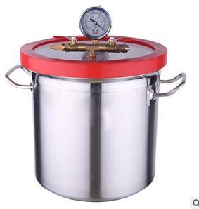 小型真空泵脱泡箱真空脱泡机 脱泡桶 真空箱 真空罐树脂AB胶脱泡