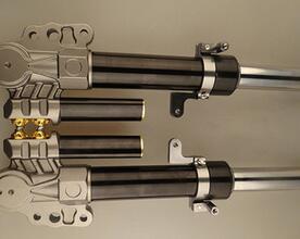 批发33芯路虎三角奶瓶可装 三代目摩托车行走系统零件改装前减震