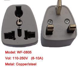 专业生产万用旅游转换插头插座 英规 万能孔