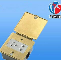 地面插座 翻盖地插座全铜防水弹起地插五孔地面插座 质优价廉