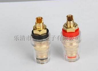 高品质 M8 纯铜镀金 功放 音响音箱 水晶透明接线柱 香蕉插座