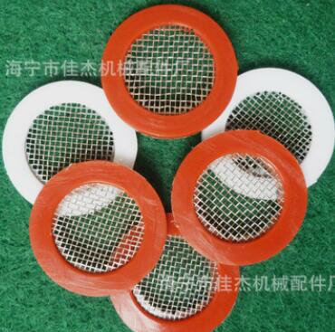 24mm高精密硅胶NBR平垫包边密封滤网配件可定做 过滤网芯