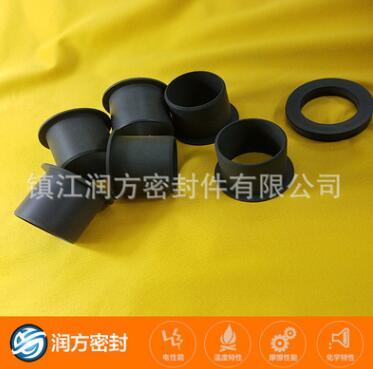 聚四氟乙烯填充碳纤维密封件 PTFE耐磨不伤对磨件产品 无油自润滑