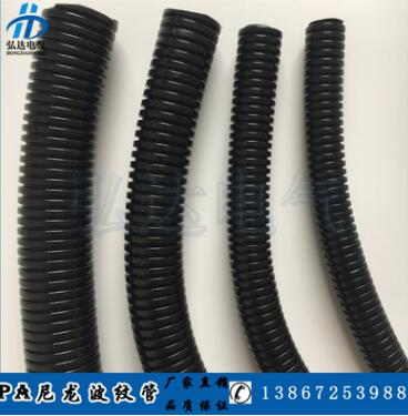 PA尼龙塑料波纹管黑色穿线尼龙软管电线套管电线缆保护管