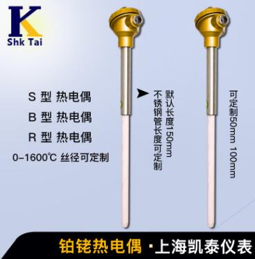 S型铂铑热电偶 WRP-130热电偶 铂铑热电偶 可按要求订