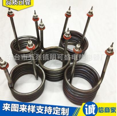 厂家定做 电加热管 咖啡机高功率发热快 螺旋型不锈钢电加热管