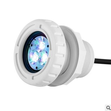 LED胶膜泳池灯具 ip68塑料水底灯 大功率水下灯 6W喷泉灯spa灯