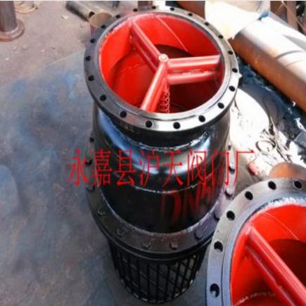 铸铁法兰底阀水泵底阀吸水底阀H42X -6 DN400铸铁法兰底阀图片大全