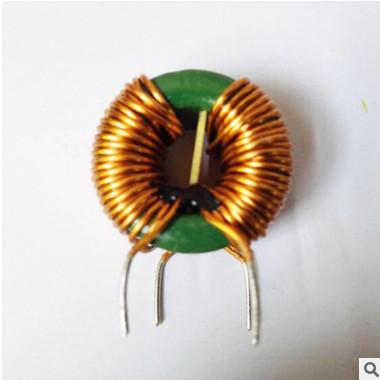供应磁环共模电感 绿色环形共模立式电感加底座 功率 一体电感
