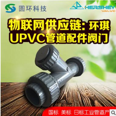 台湾环琪国标UPVC活接式Y型过滤器DN15 DN20 DN25双由令pvc过滤器