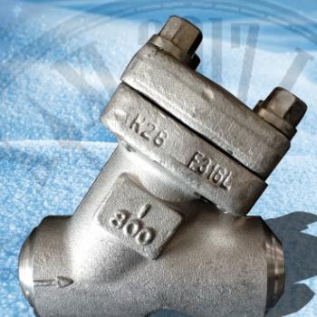 浙江盛天余阀门有限公司 Y型对焊工业不锈钢过滤器H61W-800LB 1寸