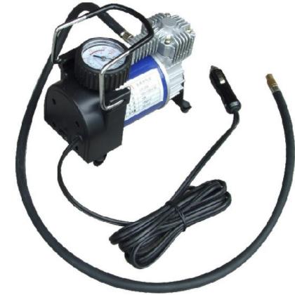 单缸大功率金属车载充气泵 车载气泵 点烟器便携式气泵工厂批发