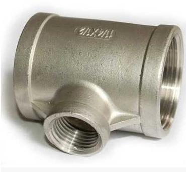渝东304不锈钢异径丝扣三通变径内丝自来水管接头配件4分丝口