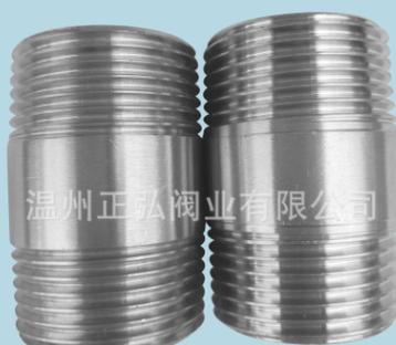 316L不锈钢双头外丝 1/2对丝 4分外螺纹直接 加厚管子外丝延长管