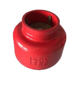 厂家直销大体静音式H81X沟槽消声止回阀卡箍连接沟槽式消声止回阀