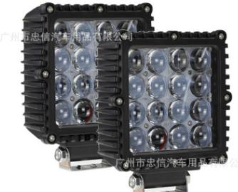 厂家新款4D透镜 方形80Wled工作灯 越野车顶灯 汽车前杠改装车灯