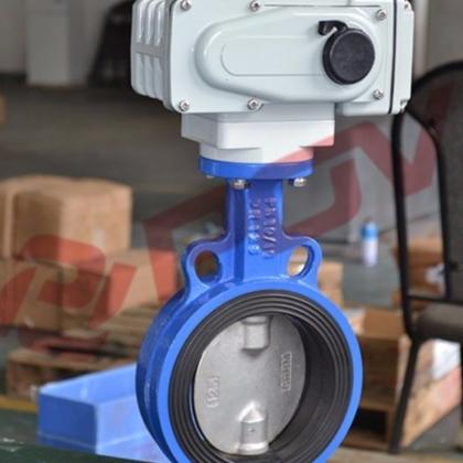 上海上晋 公司 专业 d971x对夹式电动蝶阀