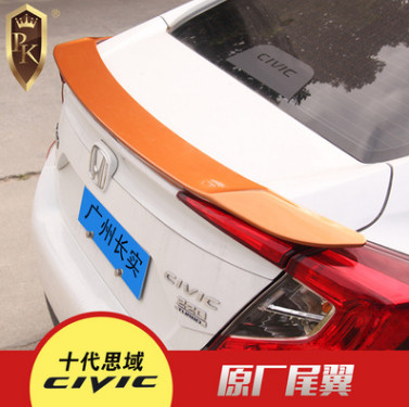 尾翼 适用于东风本田 16款十代思域泰版RS尾翼不带灯款改装压尾