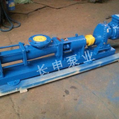 不锈钢变频单螺杆泵,长申生产污泥G型螺杆泵