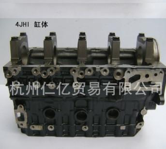 厂家直销五十铃原厂4JH1气缸体发动机直例四缸配件批发工程车