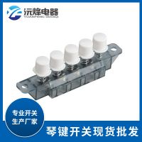 广东厂家果汁机琴键开关四位YQ01-4L16R/Y04开关按键帽搅拌机