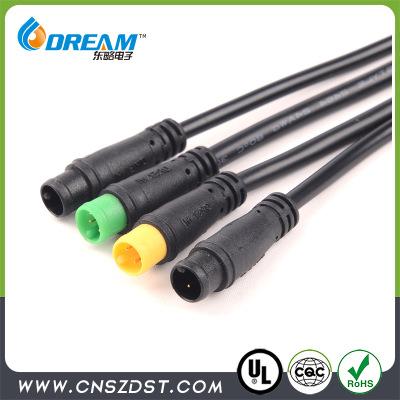 IP65 2针防水电池电机连接器 w优德88亚洲接头 电动自行车防水插头