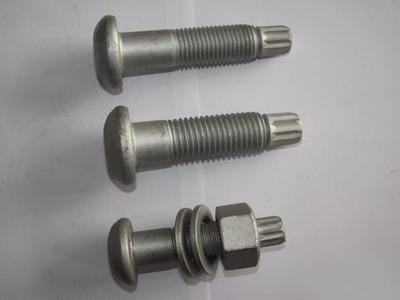永年高强度螺丝 M30*80-250钢结构扭剪连接副 达克罗 镀锌螺栓