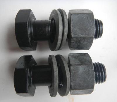 塔吊专用螺栓 钢结构用螺丝 M24系列10.9级高强度 一螺母二平垫