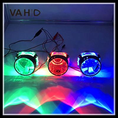 工厂汽车配件汽车大灯改装led恶魔眼透镜改装配件双色七彩恶魔眼