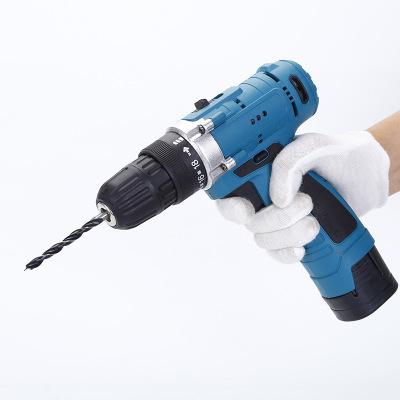 家用多功能电动螺丝刀铝合金钻孔拆卸螺丝电钻起子机电动工具套装