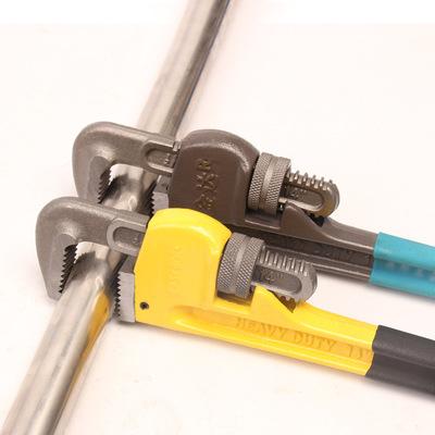 美式重型沾塑管子钳 水管钳 水暖管道安装钳 管子扳手 厂家直销