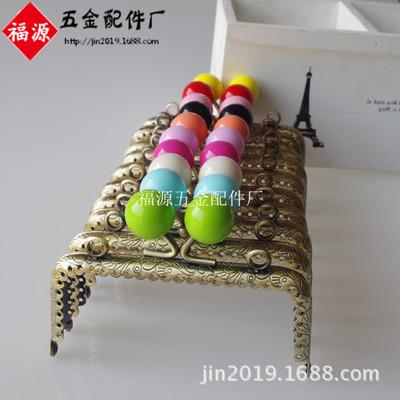 10.5cm方形压花花边糖果头口金 箱包配件批发 每色珠子50只起