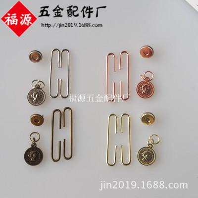 5cm人头牌饭团口金 C形划片铁杆磁扣口金 每色100套起