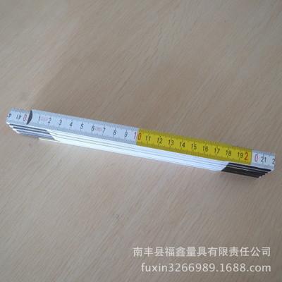 Wood folding ruler2米10折 欧洲榉木 套色 测量工具 木折尺