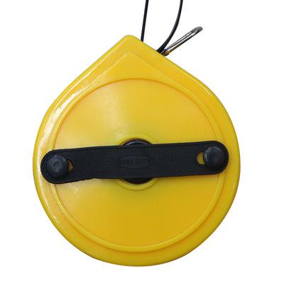 手摇式测量卷尺 ABS纤维圆盘皮卷尺 工程测绘卷尺防水超韧性皮尺