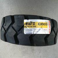 正新叉车轮胎27x10-12实心胎花纹C8907正新23X9-10轮胎花纹C8907