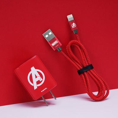 正版漫威适用苹果充电器 iPhone数据线套装 旅行双USB快充电头2A