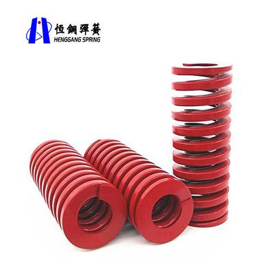 专业生产ISO1243重负荷模具弹簧 红色矩形弹簧 支持定制