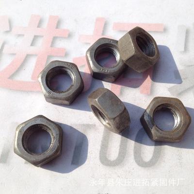 冷镦光螺母 普通六角螺帽 M12本色六角螺母 碳钢4.8级 量大优惠