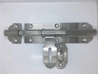 雅富来304钢重型6寸插销 明插销 门栓 橱柜插销 门窗木门插销批发