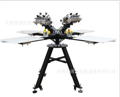 厂家直销 手动平面丝印机4色印花机小型经济耐用服装印花机