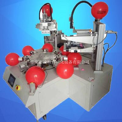 珠三角气球丝印机厂家 广告乳胶气球印刷机8工位转盘丝印机 双色