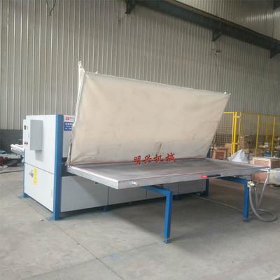 明兴金属货架木纹转印机 参加江苏常熟货架展会