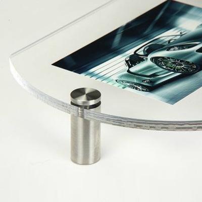 纯正不锈钢实心广告装饰钉 广告牌亚克力支撑 螺钉圆柱【25mm】