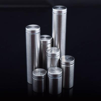 厂家直销i批发玻璃镜钉亚克力板装饰广告螺丝 不锈钢空心广告钉