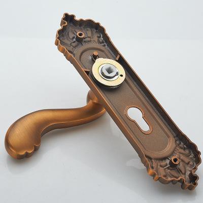 欧式黄古卧室轴承锁室内执手锁具木门把手家用房门锁机械门锁批发