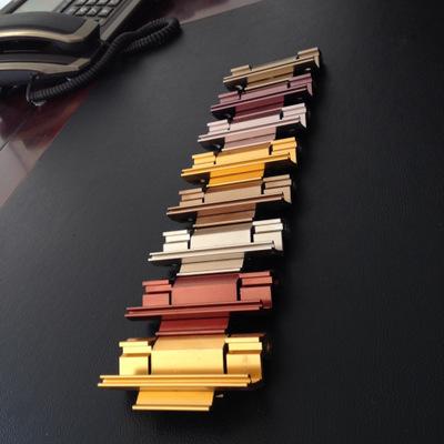 电泳喷漆金色57断桥合页铰链 门窗三翼折叠纱窗断桥合页配件